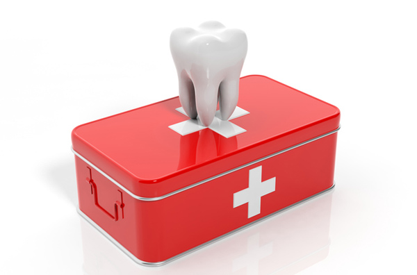Rendering of tooth on emergency kit from South Austin Dental in Austin, TX